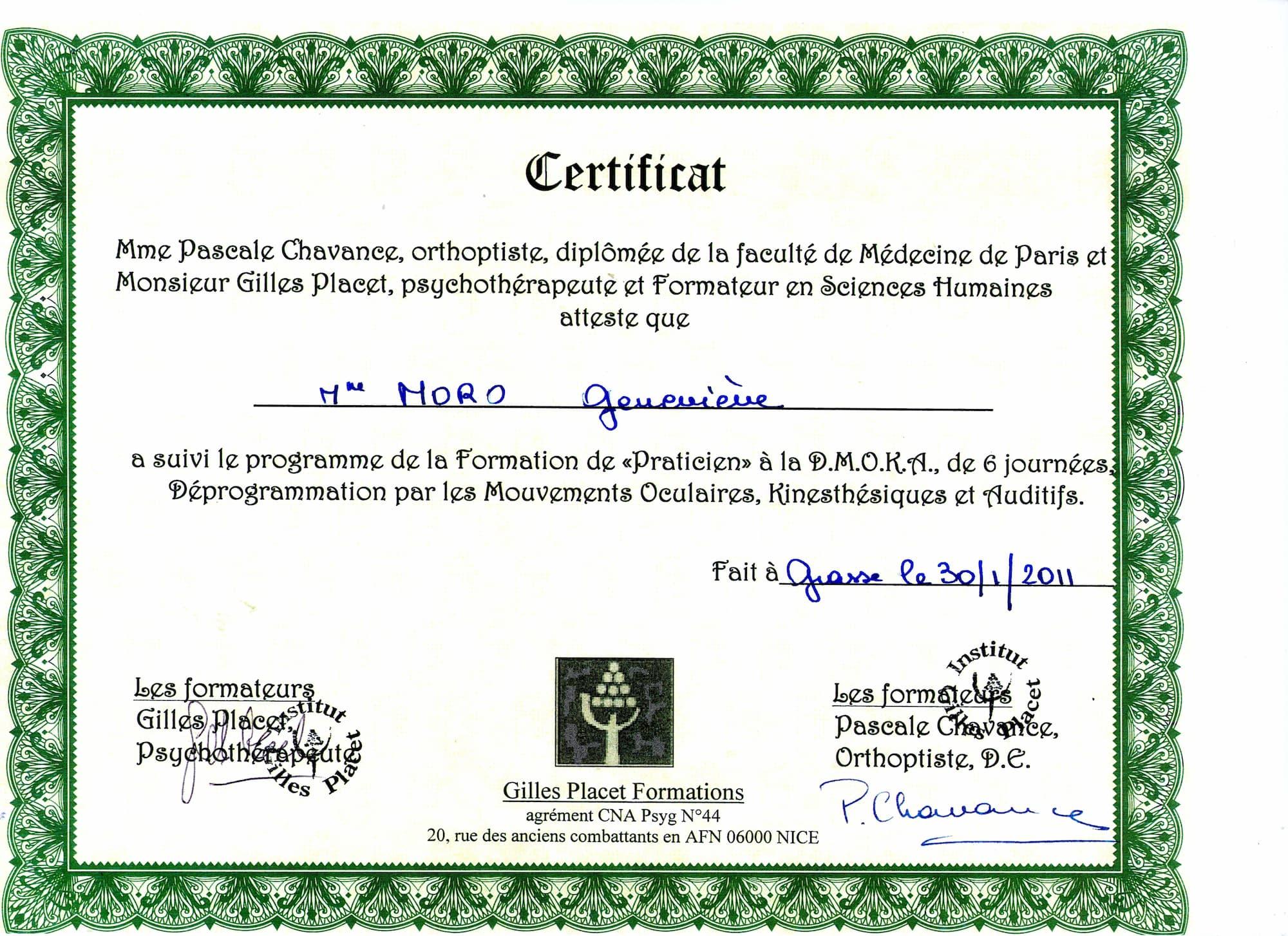 Diplome Praticienne Dmoka (1)